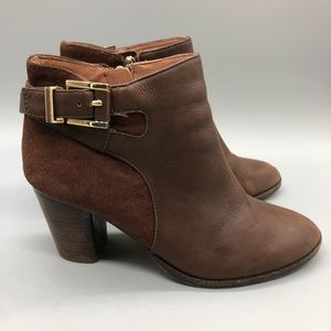 Louise et Cie brown leather  + suede booties